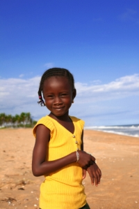 Beautiful African Girl on Beach