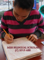 DETERMINED BILINGUAL SCHOLAR MISS - 2013