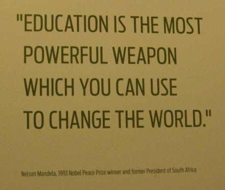 Education - The Honorable Nelson Mandela